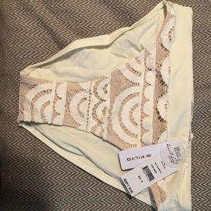PilyQ Ivory high waist bottoms size medium